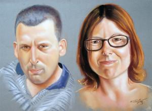 Retrato Pastel 65x54 cm.
