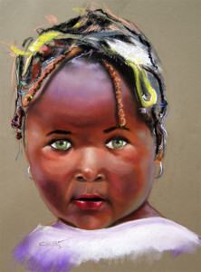 Retrato pastel 50x32 cm.