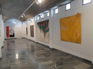 Interior Sala de exposiciones. Centro de Arte Mirador del Castillo. Mojacar