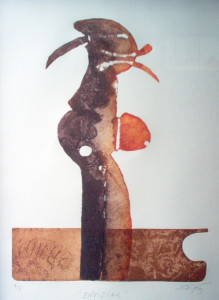 """Envidias"" Aguatinta-Aditivo. Estampa 57x39 cm."